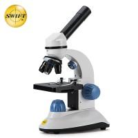 美国SWIFT光学生物显微镜儿童科学实验中小学生个性礼物便携玩具套装高倍高清1000倍SW50