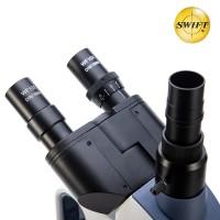 美国SWIFT双目光学生物显微镜专业40-2500倍高清高倍水产养殖螨虫猪精检测三目显微镜便携式