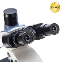 美国SWIFT三目光学生物显微镜专业高清2500倍科学研究高倍宠物医院畜牧水产养殖检测双目SW380T